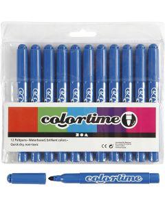 Colortime stift, lijndikte 5 mm, Azure, 12 stuk/ 1 doos