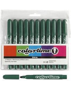 Colortime stift, lijndikte 5 mm, groen, 12 stuk/ 1 doos