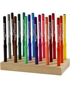 Colortime stift, lijndikte 2 mm, diverse kleuren, 18 stuk/ 1 doos