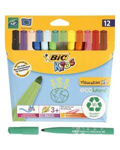 Visa Color kleurstiften, lijndikte 3 mm, diverse kleuren, 12 stuk/ 1 doos