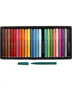 Visa Color kleurstiften, lijndikte 3 mm, diverse kleuren, 24 stuk/ 1 doos