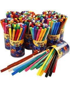 Visa fijne kleurstiften, lijndikte 1,6 mm, diverse kleuren, 432 stuk/ 1 doos