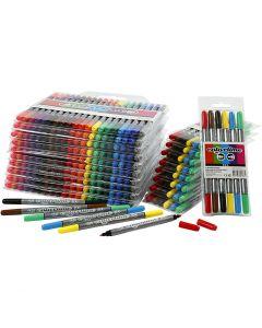 Colortime dubbelstift, lijndikte 2,3+3,6 mm, diverse kleuren, 260 stuk/ 1 doos