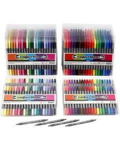 Colortime dubbelstift, lijndikte 2,3+3,6 mm, standaardkleuren, extra kleuren, 24 doos/ 1 doos