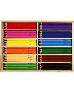 Kleurpotloden, vulling 5 mm, JUMBO, diverse kleuren, 144 stuk/ 1 doos