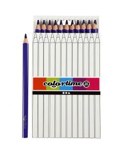 Colortime kleurpotloden, L: 17,45 cm, vulling 5 mm, JUMBO, paars, 12 stuk/ 1 doos