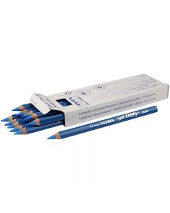Super Ferby 1 Kleurpotloden, L: 18 cm, vulling 6.25 mm, blauw, 12 stuk/ 1 doos