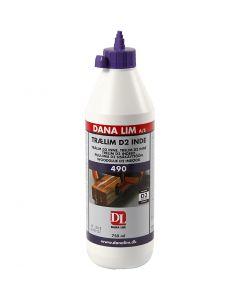 Houtlijm D2, 750 ml/ 1 fles