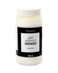 Art Acrylic vernis, matt, Transparant glans, wit, 500 ml/ 1 Doosje