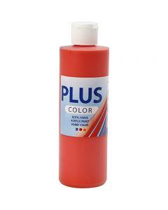 Plus Color acrylverf, brilliant red, 250 ml/ 1 fles