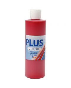 Plus Color acrylverf, crimson red, 250 ml/ 1 fles