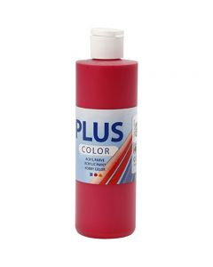 Plus Color acrylverf, berry red, 250 ml/ 1 fles