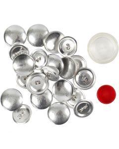 DIY Knopen, d: 22 mm, 12 stuk/ 1 doos