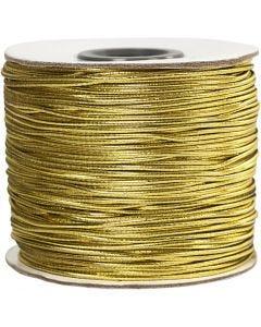 Elastisch koord, dikte 1 mm, goud, 100 m/ 1 rol