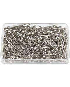 Kopspelden, L: 16 mm, dikte 0,65 mm, zilver, 25 gr/ 1 doos