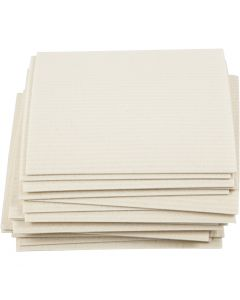 Sponsdoek, afm 17x19,5 cm, off-white, 20 stuk/ 1 doos