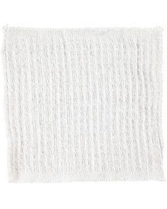 Stoffen doek, afm 25x25 cm, naturel, 12 stuk/ 1 doos