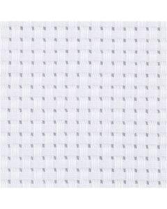 Aida, afm 50x50 cm, 24 vierkanten per 10 cm, wit, 1 stuk