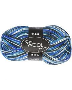 Sokkengaren, L: 200 m, blauw/turquoise harmonie, 50 gr/ 1 bol