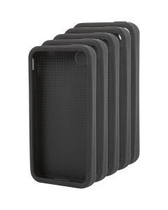 Iphone hoes borduren, afm 4/4S, afm 11,8x2,4 cm, zwart, 15 stuk/ 1 doos