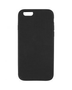 Iphone hoes borduren, afm 6/6S, afm 6,8x13,8 cm, zwart, 1 stuk