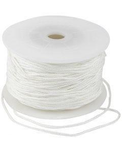 Polyester koord, dikte 2 mm, wit, 50 m/ 1 rol