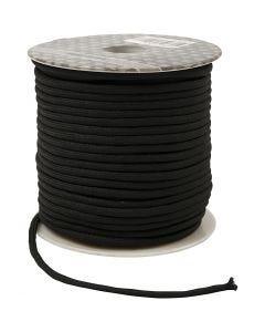 Polyester koord, dikte 4 mm, zwart, 40 m/ 1 rol