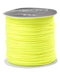 Macramé koord, dikte 1 mm, neon geel, 28 m/ 1 rol