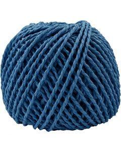 Papier garen, dikte 2,5-3 mm, donkerblauw, 40 m/ 1 bol