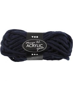 XL garen van acryl, L: 17 m, afm manga , donkerblauw, 200 gr/ 1 bol