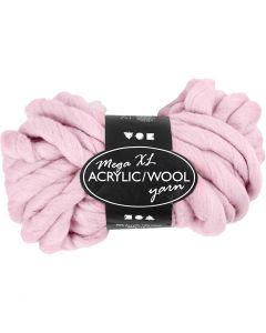 XL garen van acryl, L: 15 m, afm mega , roze, 300 gr/ 1 bol