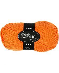 Fantasia acrylgaren, L: 80 m, neon oranje, 50 gr/ 1 bol