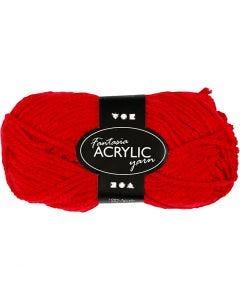 Fantasia acrylgaren, L: 80 m, rood, 50 gr/ 1 bol