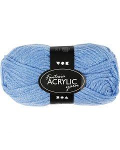 Fantasia acrylgaren, L: 80 m, blauw, 50 gr/ 1 bol