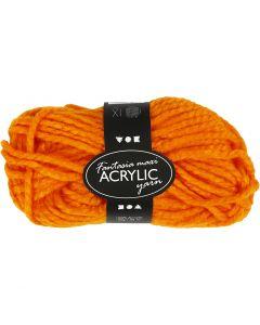 Fantasia acrylgaren, L: 35 m, afm maxi , neon oranje, 50 gr/ 1 bol