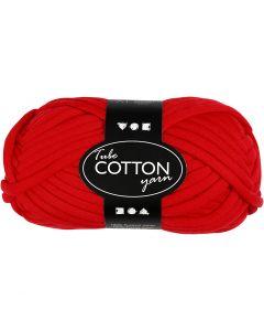 Textielgaren, L: 45 m, rood, 100 gr/ 1 bol