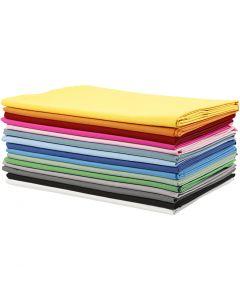 Stof, B: 145 cm, 140 gr, diverse kleuren, 15x2 m/ 1 doos