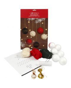 Kerstballen, d: 6 cm, 6 stuk/ 1 doos