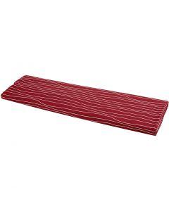 Stof, B: 145 cm, 140 gr, rood/wit, 10 m/ 1 rol