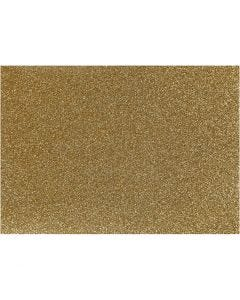 Opstrijkfolie, 148x210 mm, glitter, goud, 1 vel