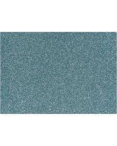 Opstrijkfolie, 148x210 mm, glitter, lichtblauw, 1 vel