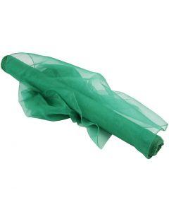 Organza stof, B: 50 cm, groen, 10 m/ 1 rol