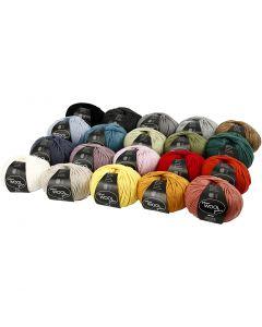 Wolgaren, L: 125 m, diverse kleuren, 20x100 gr/ 1 doos