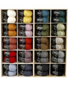 Wolgaren, L: 125 m, diverse kleuren, 20x10 bol/ 1 doos
