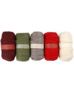 Gekaarde wol, alizarin crimson hue (343), 5x100 gr/ 1 doos