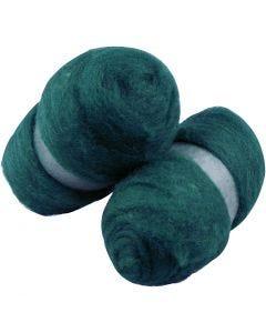 Gekaarde wol, groen, 2x100 gr/ 1 doos