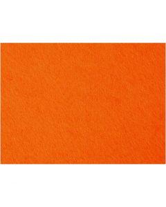 Hobbyvilt, 42x60 cm, dikte 3 mm, oranje, 1 vel