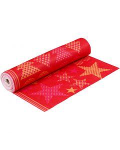 Vilt met motieven, B: 45 cm, dikte 1,5 mm, 180-200 gr, oranje, rood, 5 m/ 1 rol