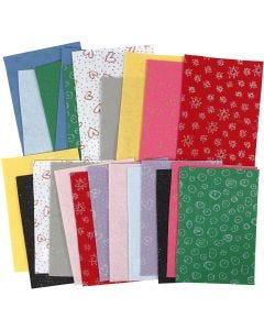 Hobbyvilt, 21x30 cm, dikte 1 mm, Inhoud kan variëren , diverse kleuren, 24 vel/ 1 doos