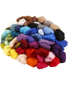 Merino wol, dikte 21 my, diverse kleuren, 20x20 gr/ 1 doos